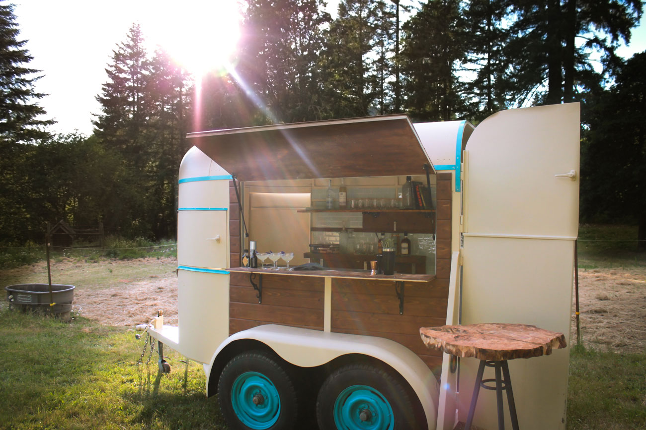 How We Converted A Vintage Horse Trailer Into A Mobile Bar